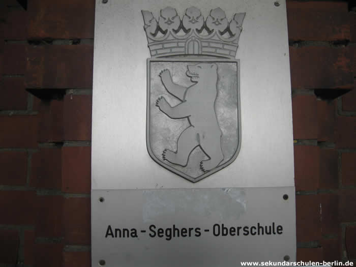 Anna-Seghers-Oberschule Schulschild