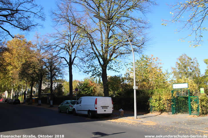 Eisenacher Straße im Oktober 2018
