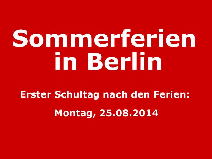 Sommerferien in Berlin