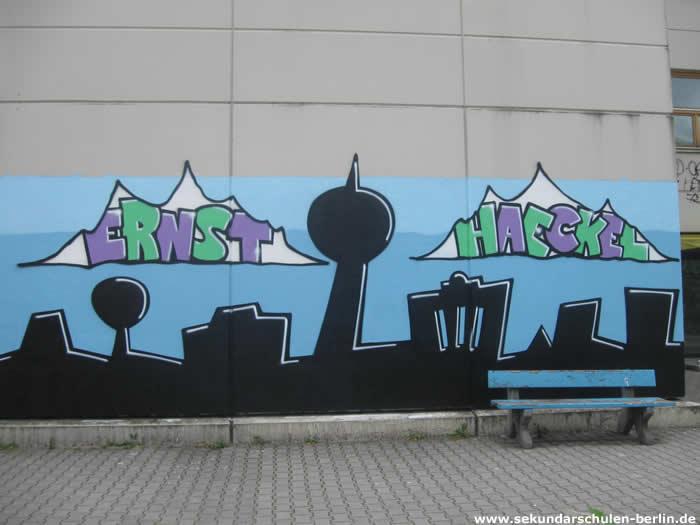 Haeckel-Schule Graffiti