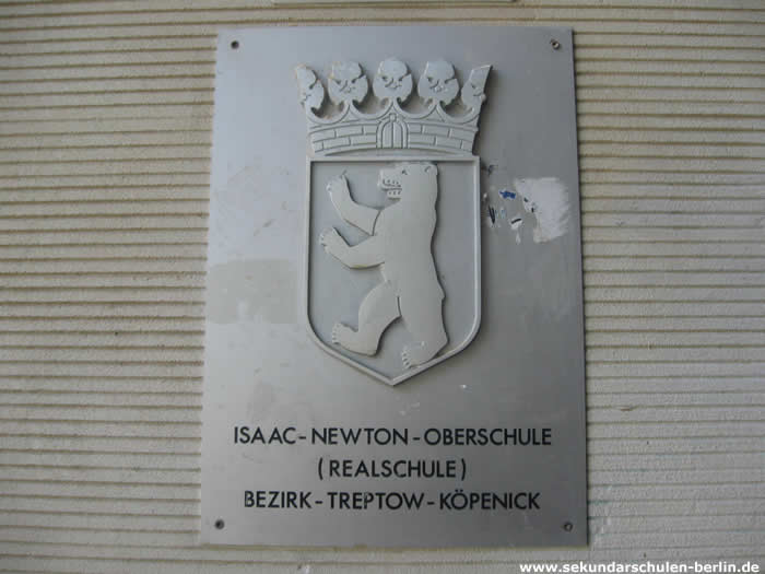 Isaac-Newton-Schule Schulschild