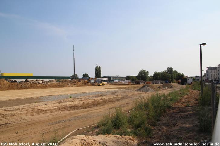 Baustelle Sekundarschule Mahlsdorf (August 2018)