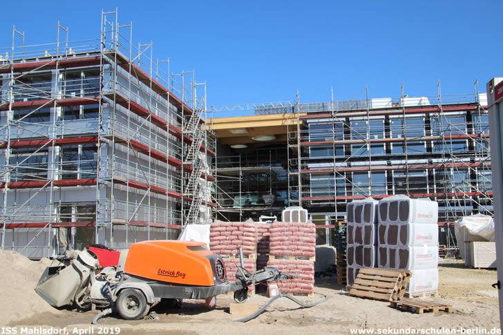 Baustelle Sekundarschule Mahlsdorf (April 2019)