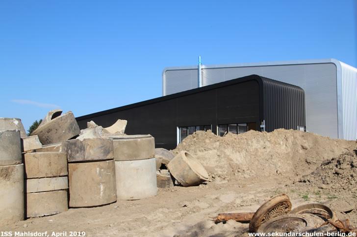 Baustelle Sporthalle Sekundarschule Mahlsdorf (April 2019)