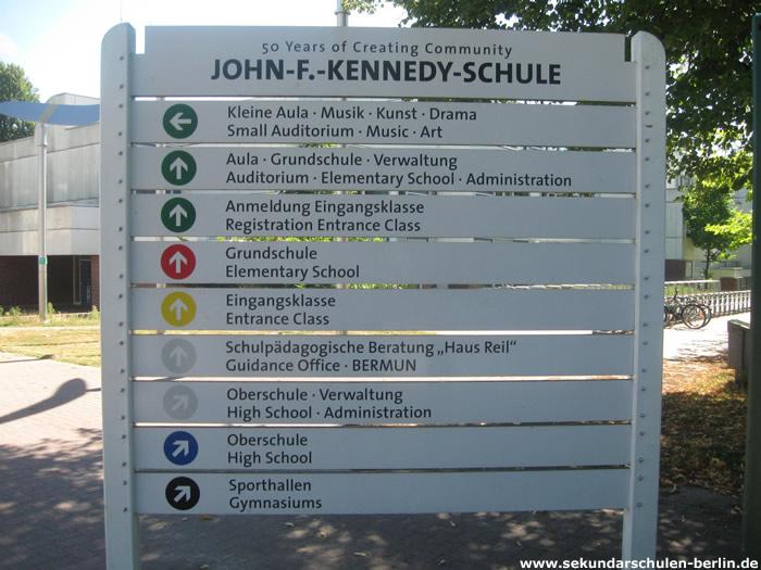 John-F.-Kennedy-Schule - Schulhofplan