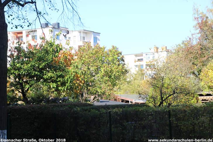 """Kleingartenanlage """"Kolonie Morgengrauen"""" im Oktober 2018, Blickrichtung Steinhellenweg"""