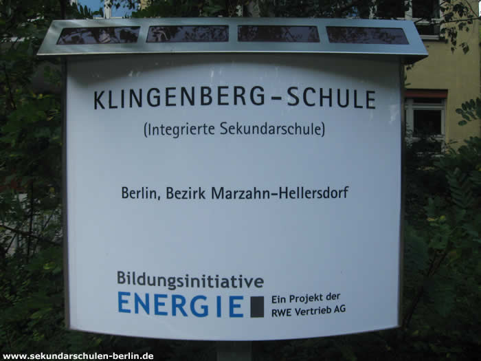Klingenberg–Schule - Bildungsinitiative Energie