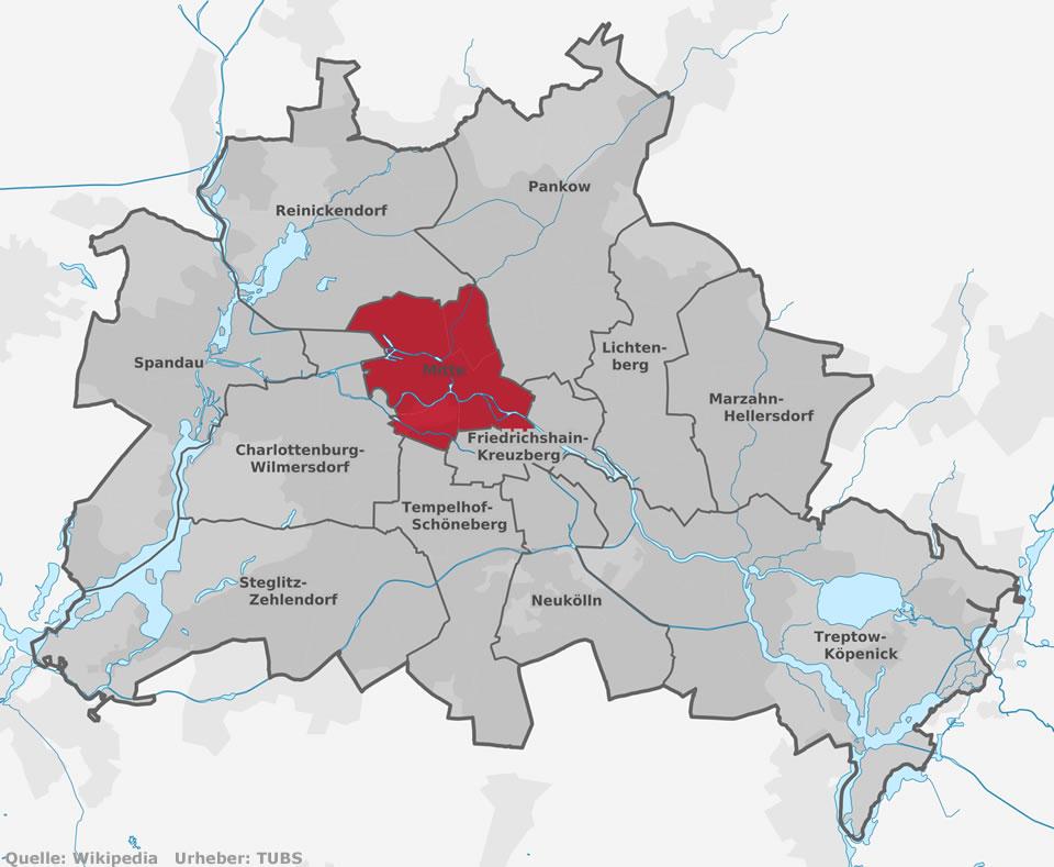 Integrierte Sekundarschulen Im Bezirk Mitte Sekundarschulen In - Berlin mitte map