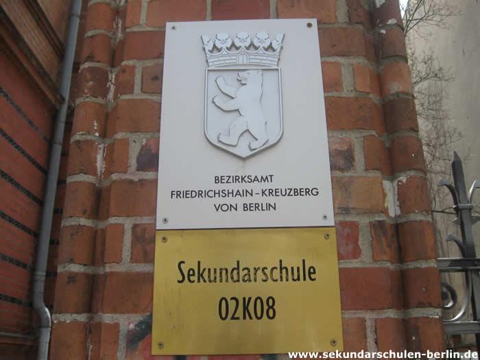 Sekundarschule Skalitzer Straße Schulschild