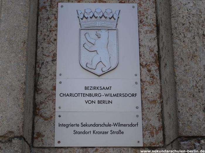 Sekundarschule Wilmersdorf - Schulschild