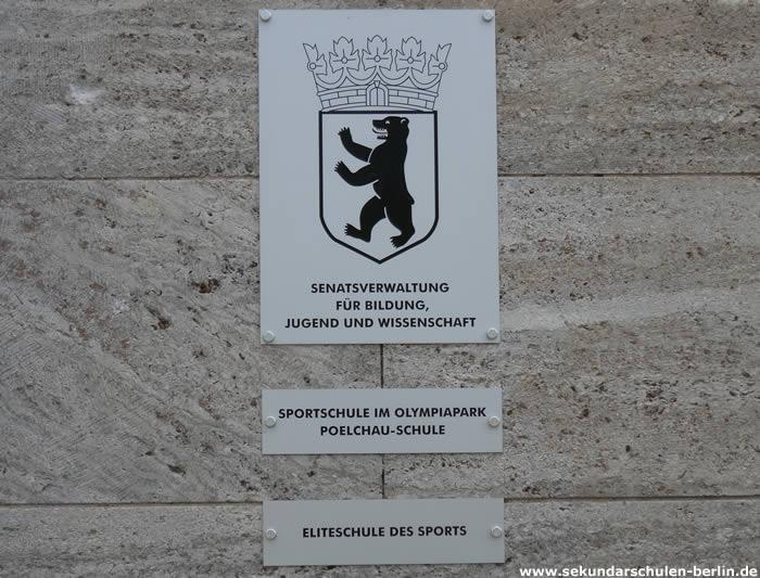Sportschule im Olympiapark - Schulschild
