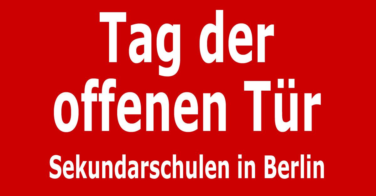 Tag der offenen t r sekundarschulen in berlin for Tag der offenen tur berlin